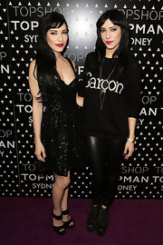 Lisa Origliasso looked great in a black sequin dress at the launch of Topman in Sydney.