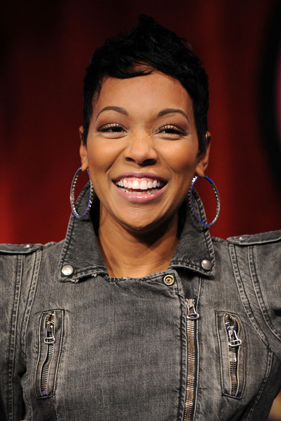 Monica in Celebrities Visit BET's 106 & Park