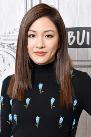 Constance Wu opted for a sleek straight layered cut when she visited Build.