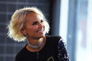 Kristin Chenoweth wore a short wavy 'do while visiting Build.