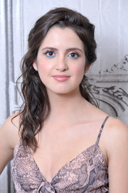 Laura Marano looked romantic with her half-pinned waves while visiting Build.