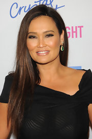 Tia Carrere went for a simple classic look with this long side-parted 'do at the 'Celebrity Apprentice' live finale.