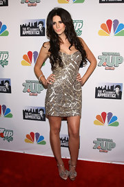 Hope was sparkling at the 'Celebrity Apprentice' Season Finale in a gold sequined mini.
