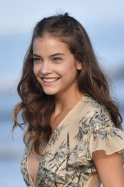 Barbara Palvin looked oh-so-pretty with her partially braided waves while attending a photocall for the Venice Film Festival.