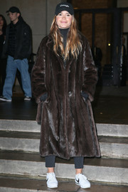 Miroslava Duma cut a posh figure in a brown fur coat while out and about during Paris Fashion Week.