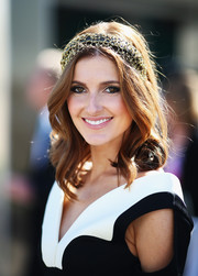 Kate Waterhouse was boho-glam with her center-parted wavy 'do during Melbourne Cup Day.