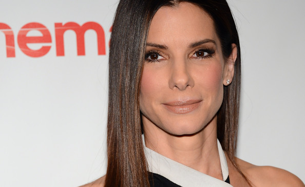 More Pics of Sandra Bullock Long Straight Cut (1 of 16) - Long Hairstyles Lookbook - StyleBistro