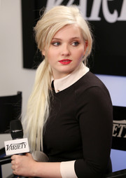 Wearing her platinum-blond locks in an edgy ponytail, Abigail Breslin was unrecognizable from the cute child star she used to be.