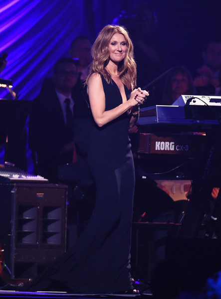 Celine Dion Form-Fitting Dress