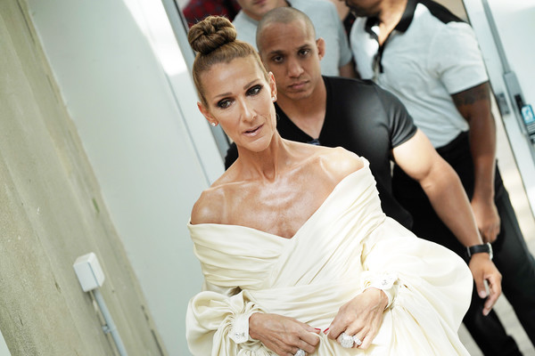 Celine Dion Diamond Ring [haute couture fall,photograph,fashion,beauty,hairstyle,dress,wedding dress,bride,fashion design,gown,ceremony,alexandre vauthier,alexandre vauthier haute couture fall,celine dion,part,paris,france,paris fashion week,show]