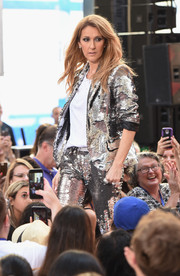 Celine Dion put on a dazzling show in a silver sequin pantsuit during NBC's 'Today.'