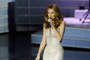 Celine Dion Shines on Stage in Armani Prive
