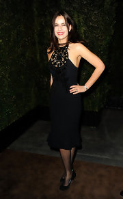 Sophie Winkleman donned a fabulous little black dress at the Chanel and Charles Finch Pre-Oscar Dinner.