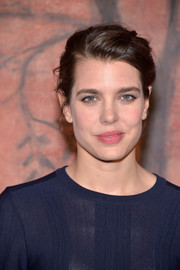 Charlotte Casiraghi opted for a subtle pink lip to finish off her look.