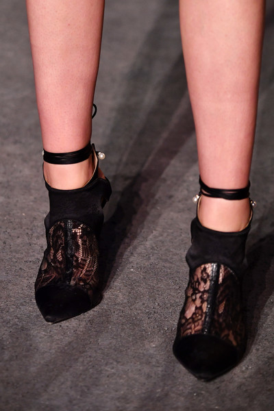 More Pics of Kristen Stewart Diamond Bracelet (2 of 11) - Kristen Stewart Lookbook - StyleBistro [footwear,shoe,ankle,fashion,joint,sandal,human leg,leg,mary jane,leather,collection,kristen stewart,shoe detail,paris,france,le grand palais,chanel cruise 2018]