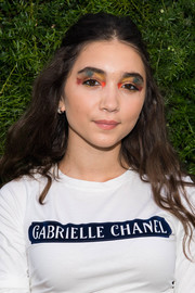 Rowan Blanchard topped off her look with a half-up hairstyle.