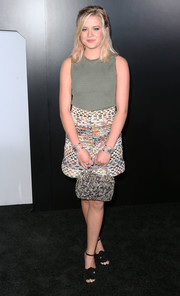 Ava Phillippe teamed her top with multicolored tweed shorts, also by Chanel.