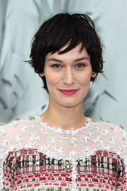 Clotilde Hesme rocked a mussed-up 'do at the Chanel Couture show.