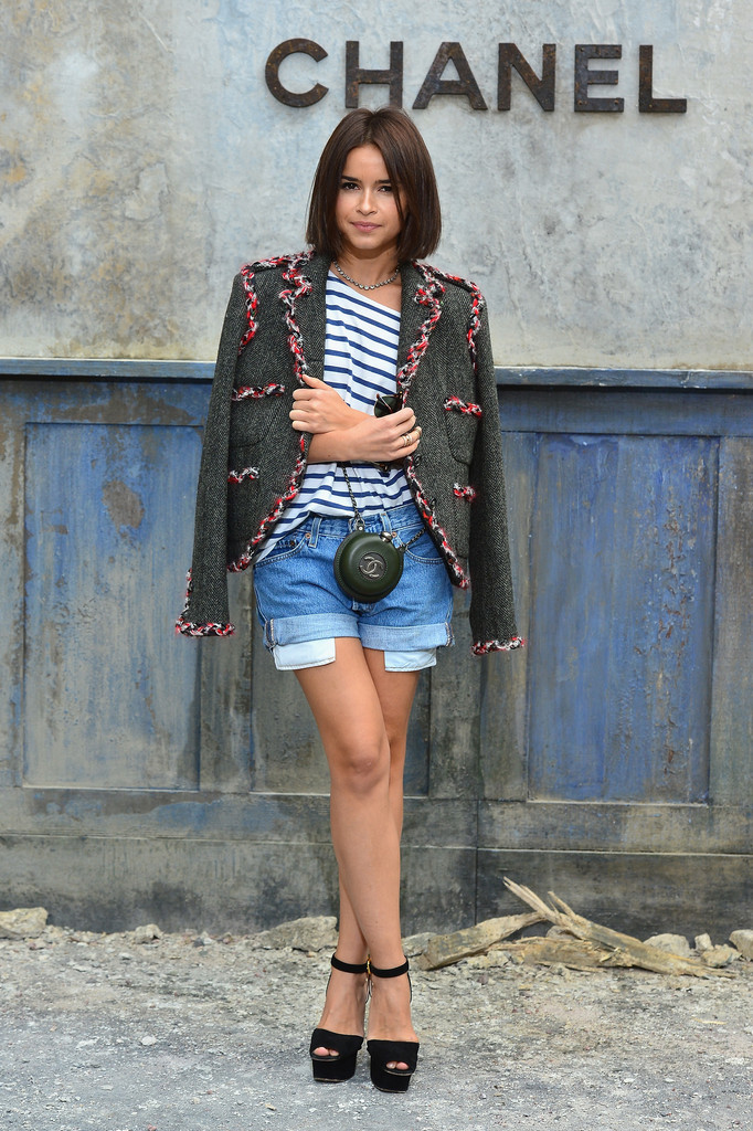 Miroslava Duma attends the Chanel show as part of Paris Fashion Week Haute-Couture Fall/Winter 2013-2014 at Grand Palais on July 2, 2013 in Paris, France.