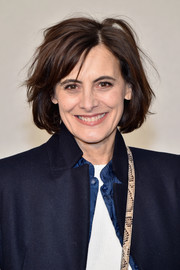 Ines de la Fressange rocked a messy bob at the Chanel Couture Spring 2017 show.