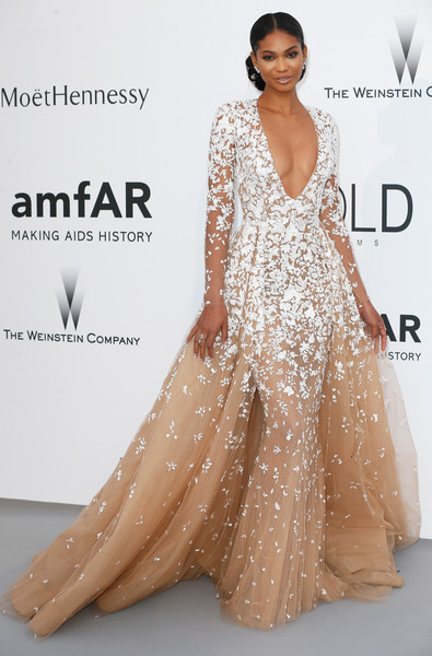 Chanel Iman Princess Gown