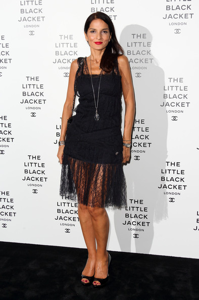 Yasmin's elegant lace dress had a subtle rocker vibe at the Chanel party.