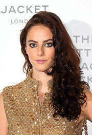 Kaya Scodelario fixed her lush curls in a side sweep for the Chanel: The Little Black Jacket private view.