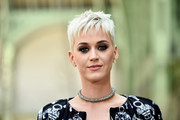 Katy Perry rocked a mussed-up pixie at the Chanel Haute Couture show.
