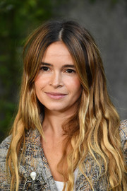 Miroslava Duma looked boho with her ombre waves at the Chanel Spring 2018 show.