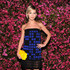 Leigh Lezark Lookbook: Leigh Lezark wearing Chanel Strapless Dress (4 of 4). Leight Lezark chose a blue and black checkered dress to top off her cool mod look at the Chanel Tribeca Film Festival Artists Dinner.