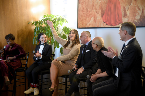 More Pics of Ashley Graham Form-Fitting Dress (4 of 8) - Dresses & Skirts Lookbook - StyleBistro [event,conversation,community,interaction,adaptation,businessperson,ceremony,management,formal wear,tourism,noor tagouri,joy-ann reid,seth matlins,daniel martin,ashley graham,ceo,cvs health norman de greve,changing face of beauty panel discussion at spring place,spring place,dior beauty]