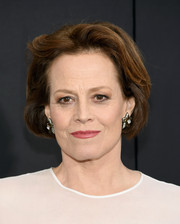 Sigourney Weaver styled her hair into an elegant bob for the premiere of 'Chappie.'