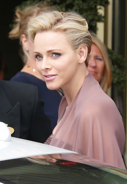 Charlene Wittstock Short Side Part [charlene of monaco,christopher oneill,silvia,princess madeleine of sweden,king carl gustaf xiv,hair,hairstyle,blond,beauty,lady,skin,chin,lip,fashion,shoulder,wedding of princess madeleine,wedding,the royal palace,sweden,stockholm]