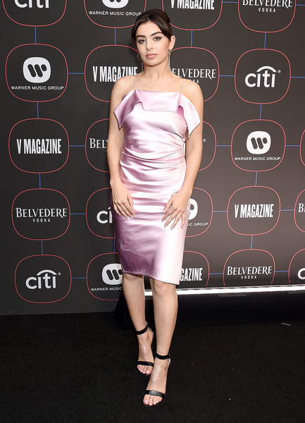 Charli XCX Cocktail Dress [dress,clothing,cocktail dress,shoulder,fashion model,joint,fashion,premiere,hairstyle,footwear,arrivals,charli xcx,los angeles,nomad hotel,california,warner music group hosts pre-grammy celebration,warner music group pre-grammy celebration]