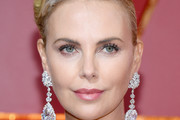 Charlize Theron Dangling Diamond Earrings