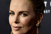 Charlize Theron Gold Chandelier Earrings