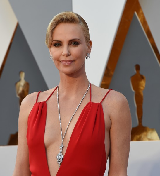 Charlize Theron Diamond Pendant