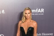 Charlize Theron Strapless Dress