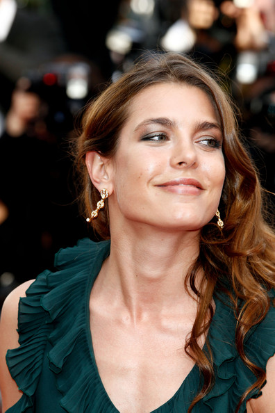 Charlotte Casiraghi Dangling Diamond Earrings [once upon a time,hair,face,hairstyle,eyebrow,beauty,long hair,lip,chin,blond,brown hair,charlotte casiraghi,once upon a time premiere,cannes,france,cannes film festival,palais des festivals]