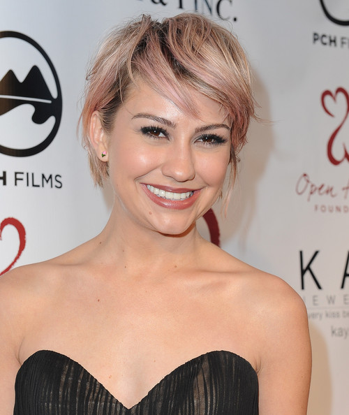 Chelsea Kane Layered Razor Cut [hair,face,hairstyle,eyebrow,blond,skin,chin,beauty,shoulder,lip,malibu,california,open hearts foundation gala,chelsea kane]