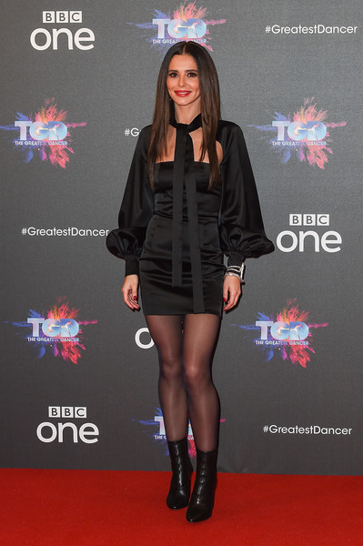 Cheryl Ankle Boots [the greatest dancer photocall,clothing,carpet,red carpet,fashion,footwear,flooring,dress,outerwear,premiere,little black dress,cheryl,photocall,england,london,the may fair hotel,bbc]