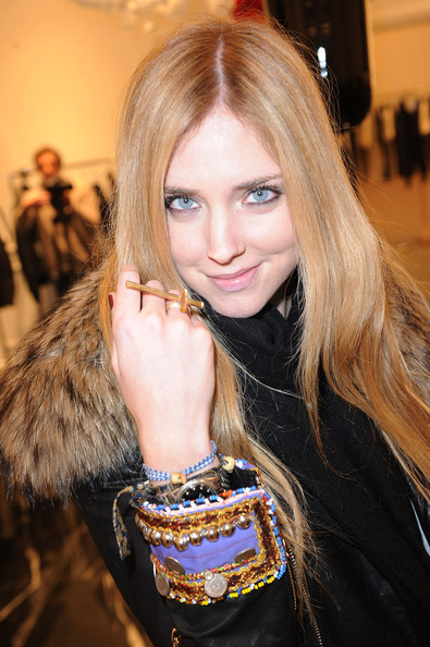 Chiara Ferragni Statement Ring [hair,blond,beauty,lip,hairstyle,fur,fashion,long hair,brown hair,fur clothing,philipp plein,chiara ferragni,collection presentation,milan fashion week menswear a,milan,italy,milan fashion week]