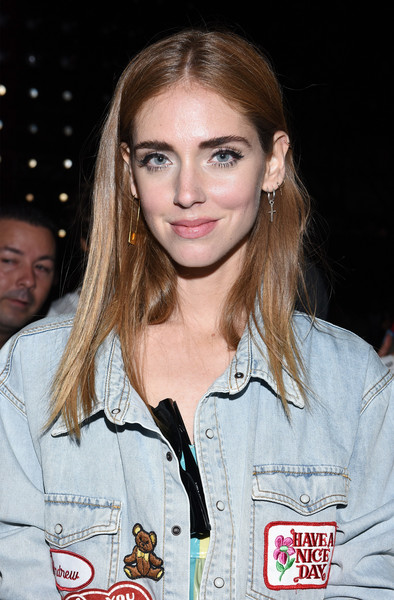 Chiara Ferragni Long Straight Cut [shows,the shows,hair,face,hairstyle,blond,eyebrow,beauty,fashion,brown hair,long hair,lip,jeremy scott,chiara ferragni,jeremy scott spring,front row,moynihan station,new york city,the arc,new york fashion week]