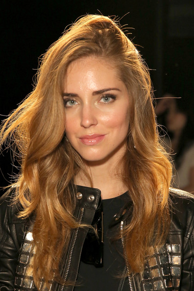 Chiara Ferragni Long Wavy Cut [black gold,hair,face,blond,hairstyle,eyebrow,long hair,beauty,layered hair,brown hair,hair coloring,chiara ferragni,diesel,front row,diesel black gold,skylight,moynihan station,new york city,mercedes-benz fashion week,fashion show]