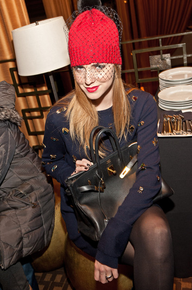 Chiara Ferragni Leather Tote [beanie,knit cap,fashion,headgear,cap,costume,hat,shea marie,chiara ferragni,love,the blonde salad,peace,empire hotel,new york city,lxr co e-commerce launch at empire hotel]