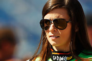 Danica Patrick looked stylish on the Chicagoland Speedway in chic aviator sunglasses.