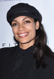 Rosario Dawson jazzed up her look with a black newsboy cap when she attended the Childhelp Hollywood Heroes event.