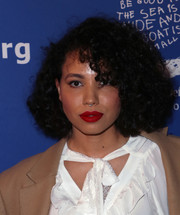 Jurnee Smollett-Bell attended the Beat the Odds Awards wearing a mussed-up afro.
