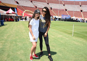 Black Nike sneakers sealed off Shay Mitchell's sporty ensemble.