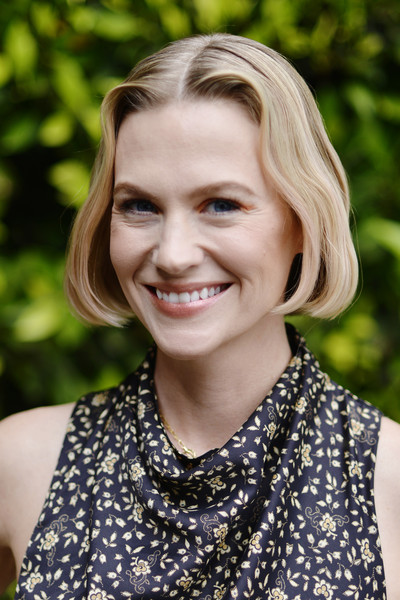 January Jones wore her hair in a cute center-parted bob at the Make March Matter fundraising event.